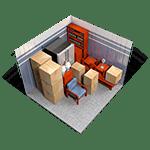 10x10 storage unit in Red Bluff