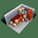 10x15 storage unit in Red Bluff