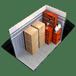 5x10 storage unit in Red Bluff